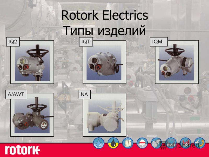 7 Rotork Electrics Типы изделий IQ2IQTIQMA/AWTNA