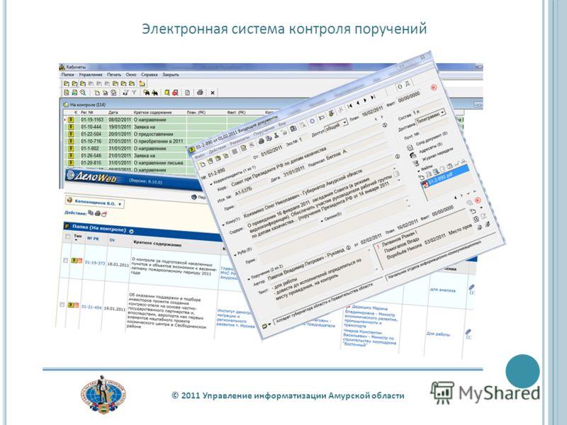 © 2011 Управление информатизации Амурской области Электронная система контроля поручений