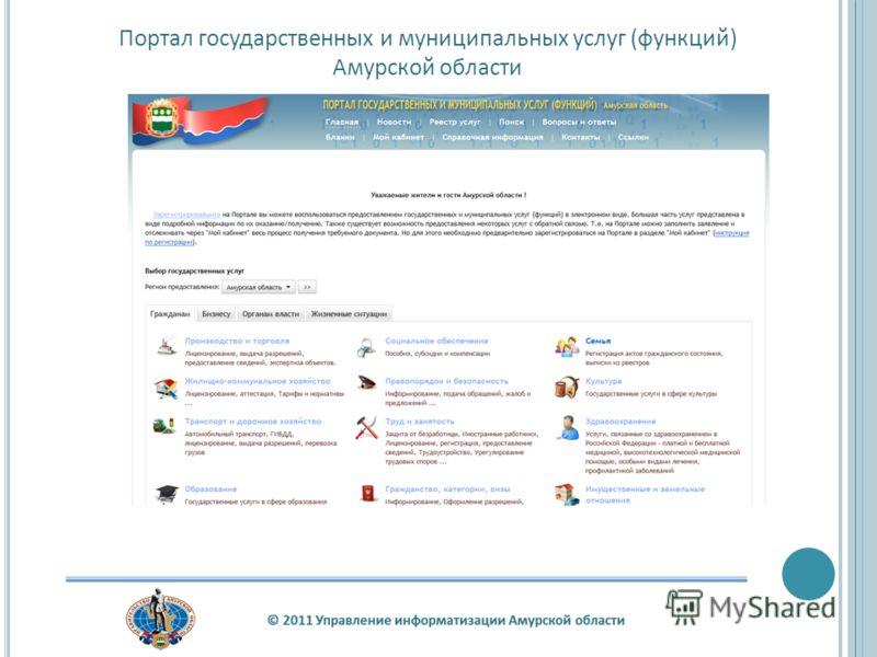 Портал государственных и муниципальных услуг (функций) Амурской области