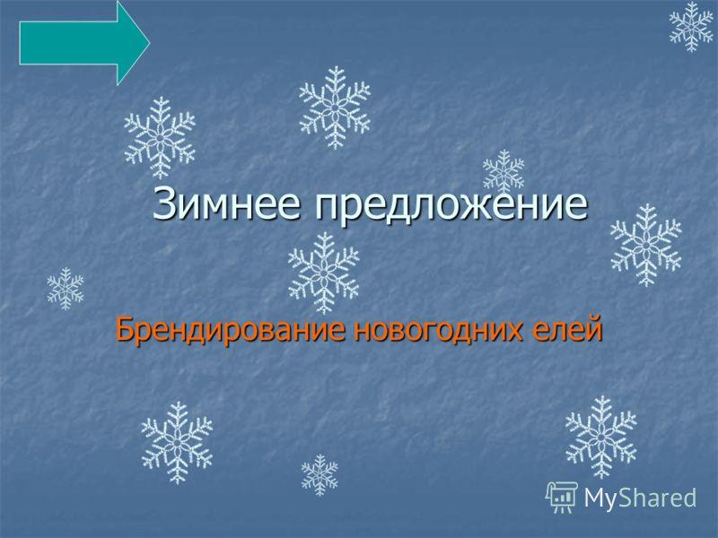 Зимнее предложение Брендирование новогодних елей