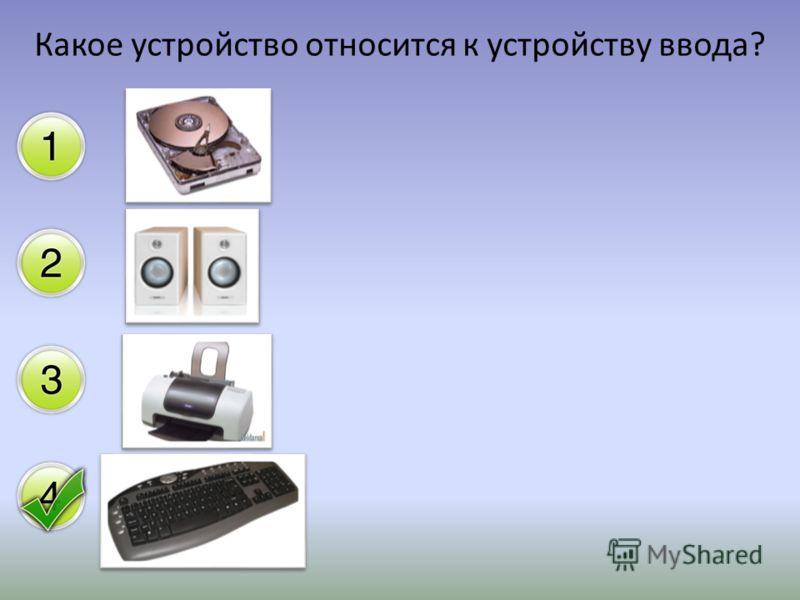 Какое устройство относится к устройству ввода?