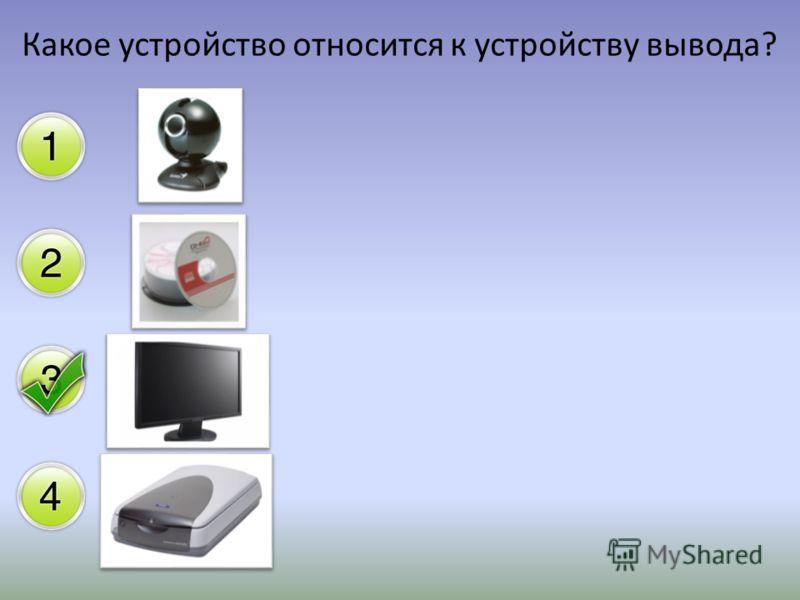Какое устройство относится к устройству вывода?
