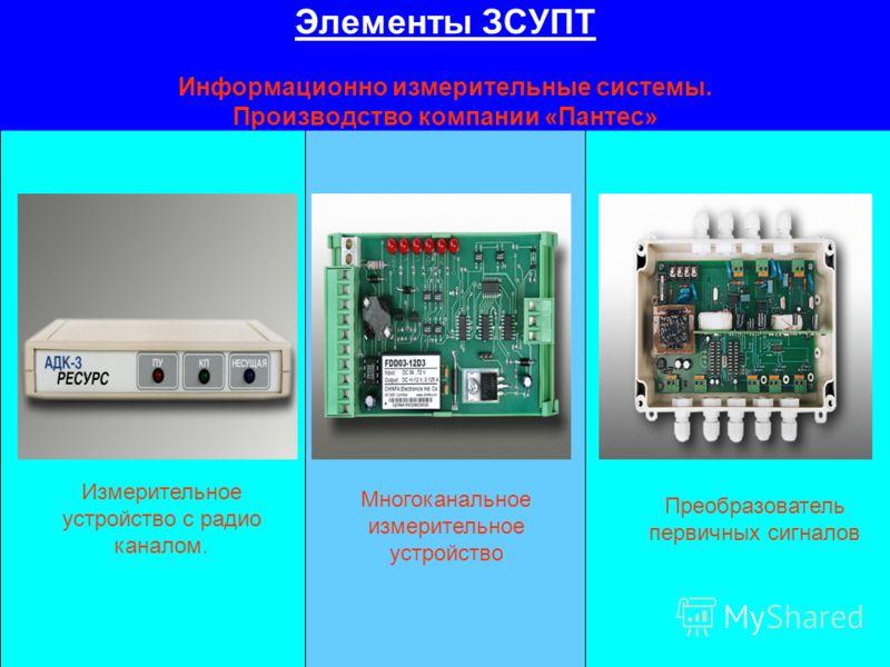 Элементы ЗСУПТ Информационно измерительные системы. Производство компании «Пантес» Измерительное устройство с радио каналом. Многоканальное измерительное устройство Преобразователь первичных сигналов