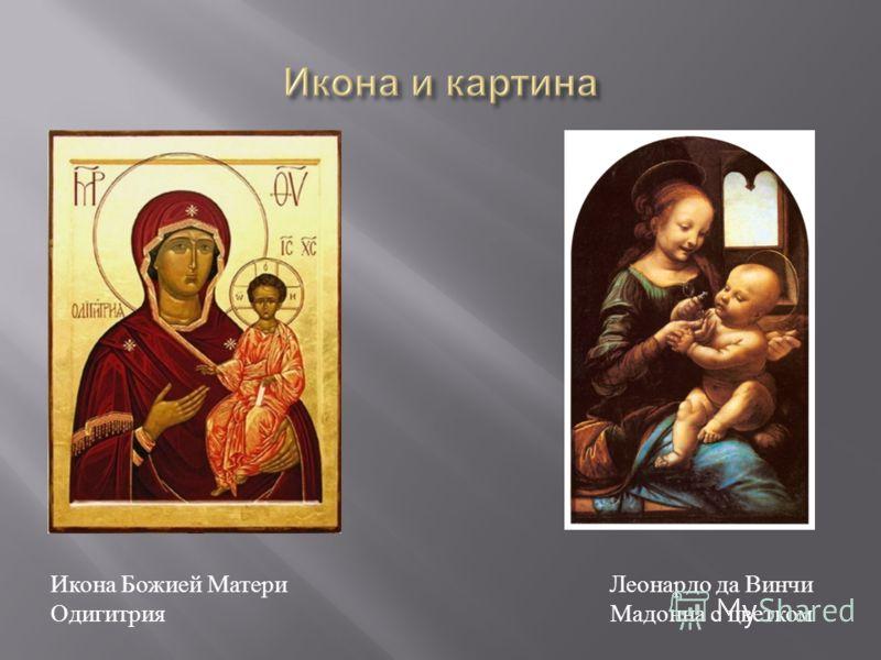 Икона Божией Матери Одигитрия Леонардо да Винчи Мадонна с цветком