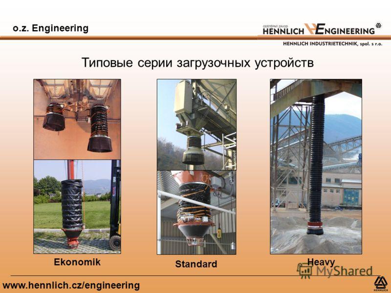 o.z. Engineering www.hennlich.cz/engineering Типовые серии загрузочных устройств Ekonomik Standard Heavy