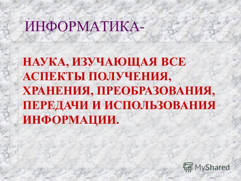 ВОПРОС 5. ИНФОРМАТИКА.