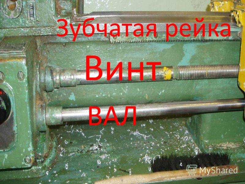 Винт ВАЛ Зубчатая рейка