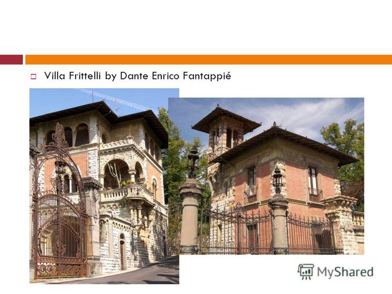 Villa Frittelli by Dante Enrico Fantappié