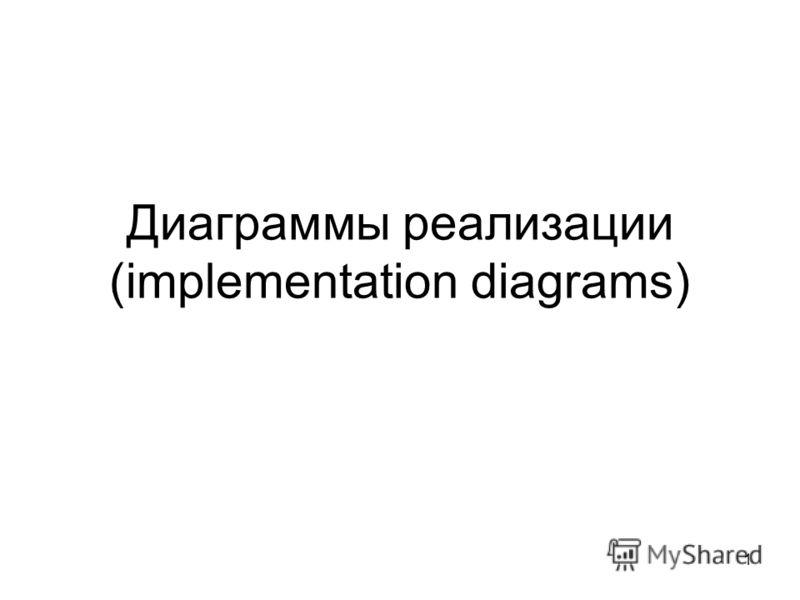 1 Диаграммы реализации (implementation diagrams)