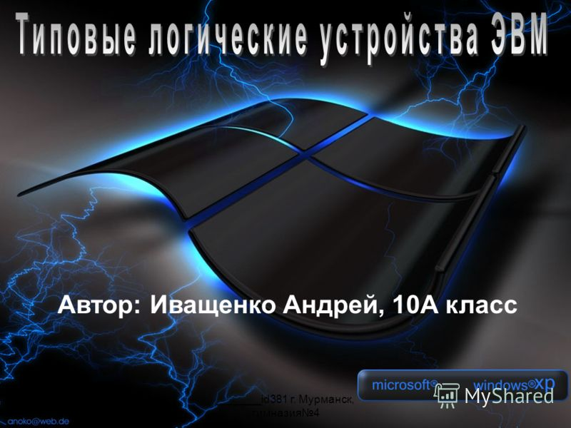 _______id381 г. Мурманск, гимназия4 Автор: Иващенко Андрей, 10А класс