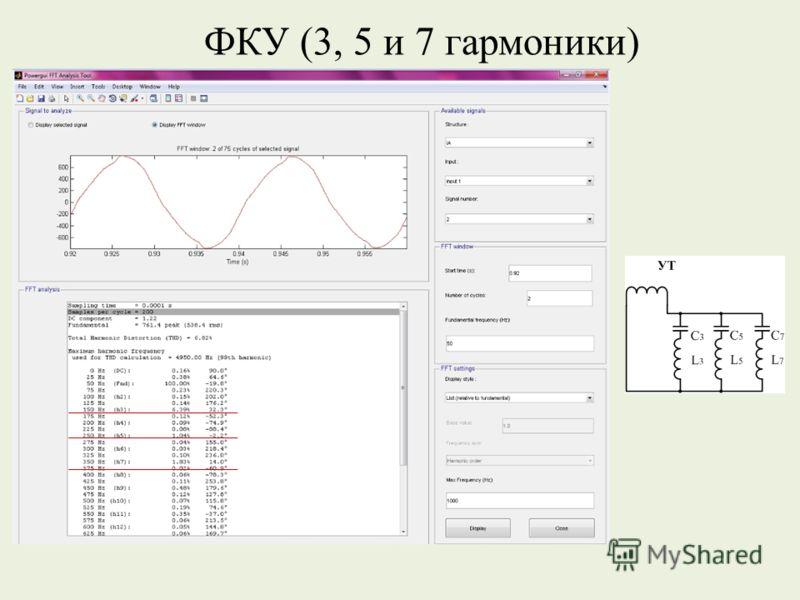 ФКУ (3, 5 и 7 гармоники)