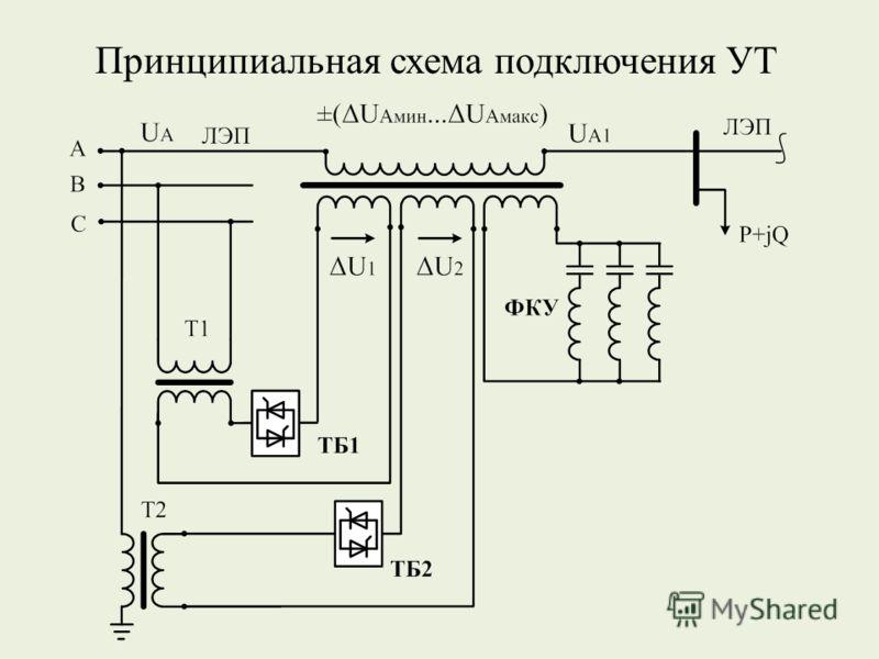 Принципиальная схема подключения УТ