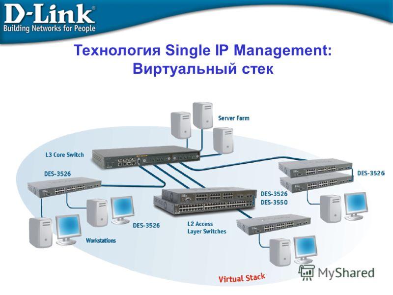 Технология Single IP Management: Виртуальный стек