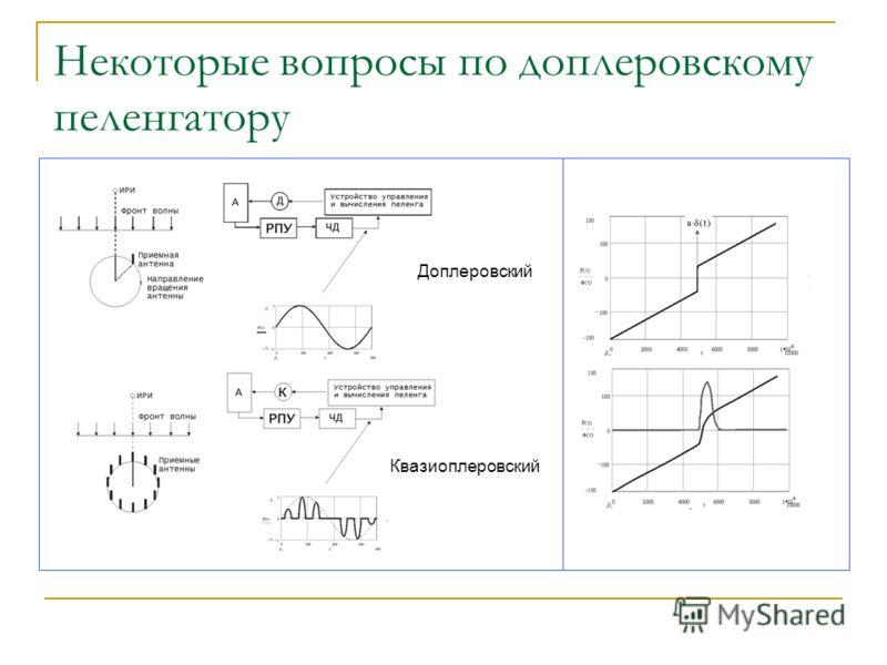 Некоторые вопросы по доплеровскому пеленгатору Доплеровский Квазиоплеровский