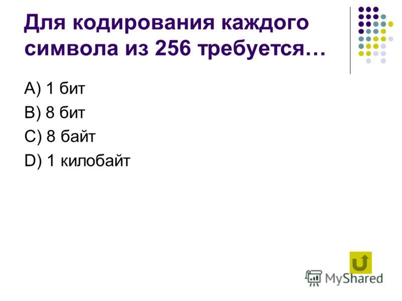Десятичное число 4 в двоичной системе счисления записывается как… А) 100 B) 101 C) 110 D) 111