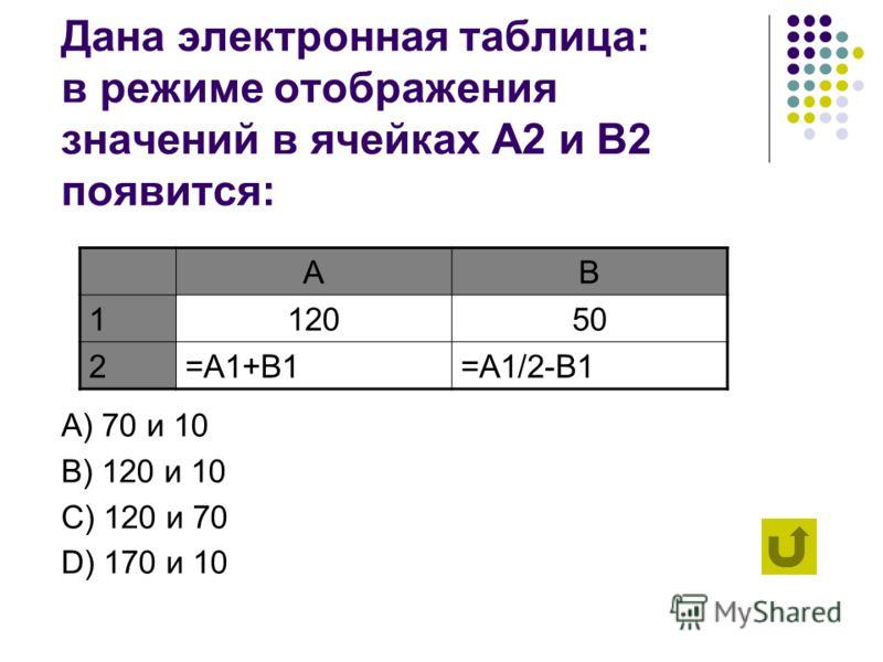 Абсолютная адресация нужна для указания ссылки на: А) конкретную ячейку B) именованную ячейку C) рабочий лист D) формулу