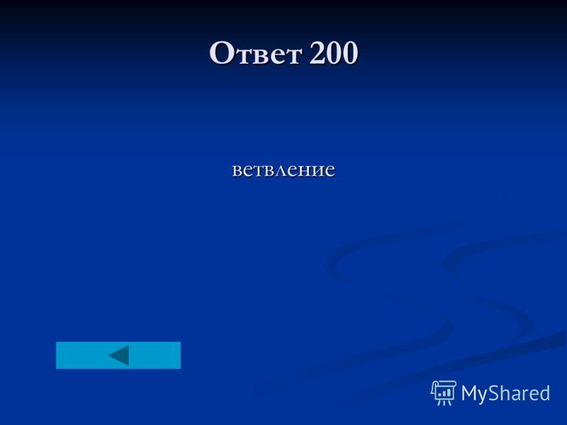 Ответ 200 ветвление