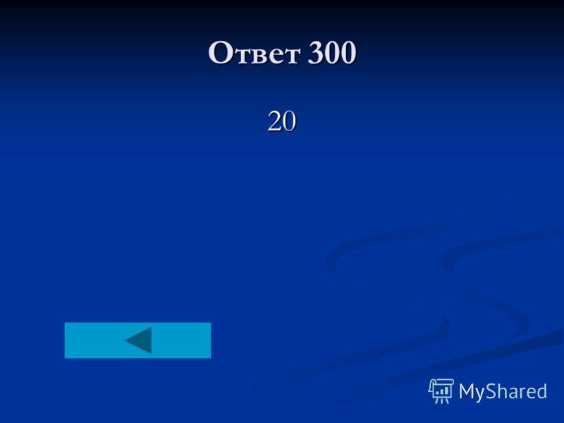 Ответ 300 20