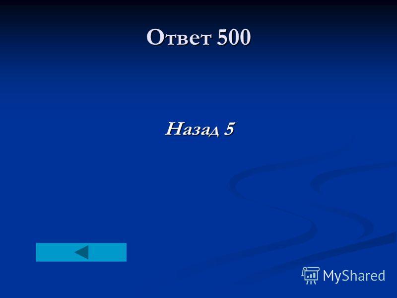 Ответ 500 Назад 5
