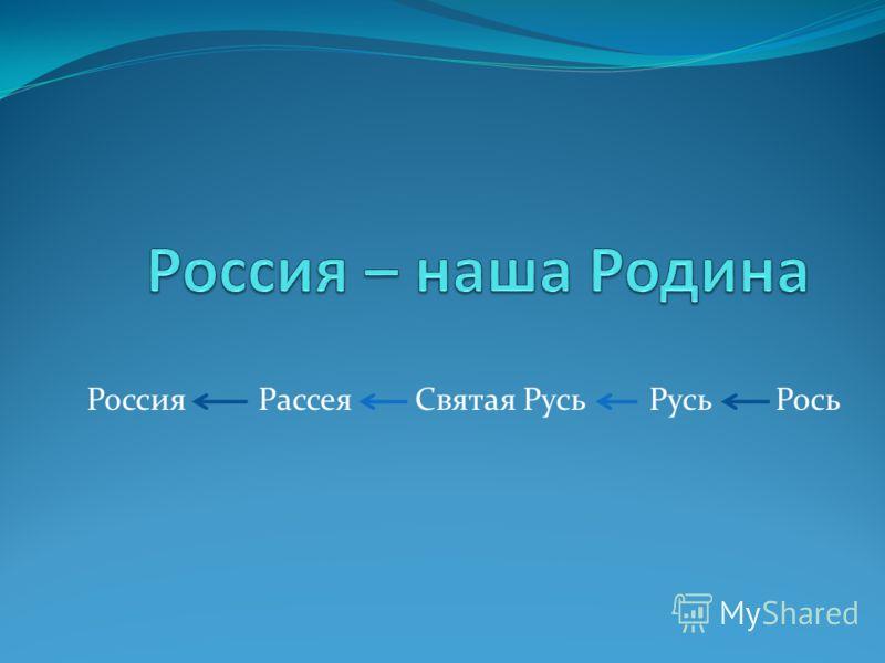 Россия Рассея Святая Русь Русь Рось