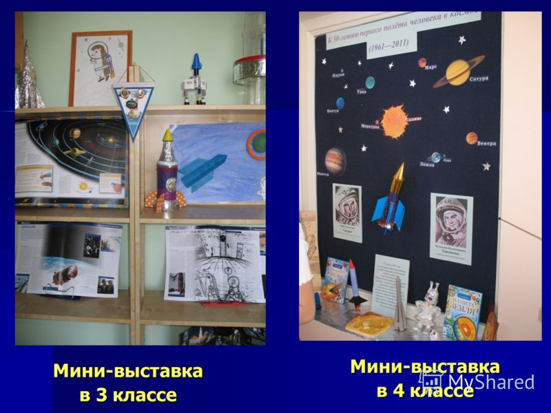 Мини-выставка в 4 классе Мини-выставка в 3 классе