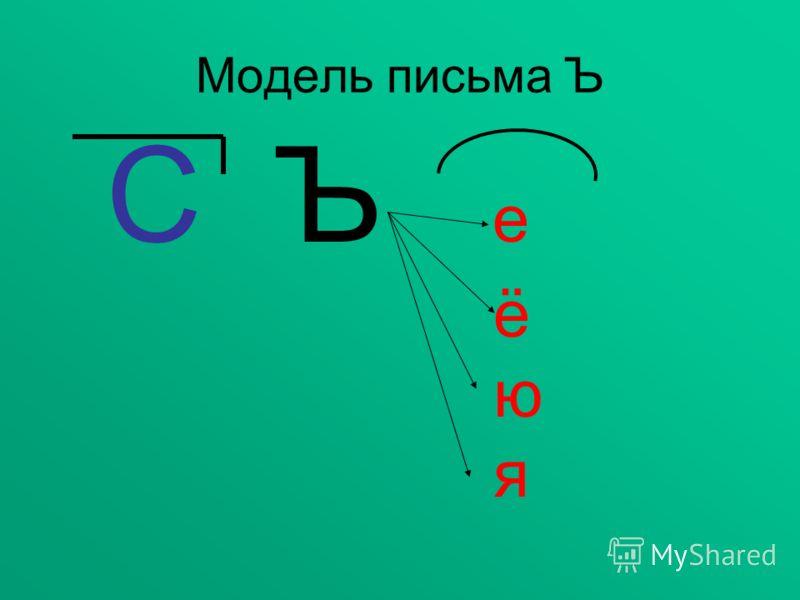 Модель письма Ъ С Ъ е ё ю я