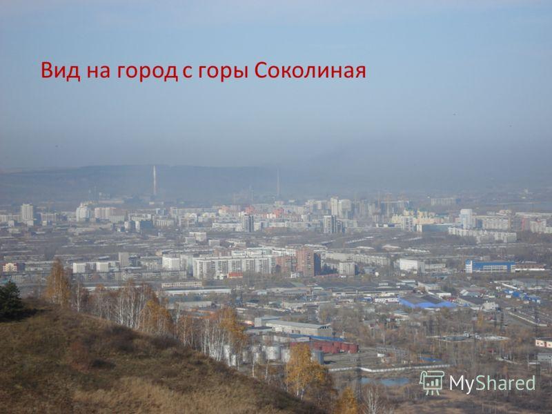 Вид на город с горы Соколиная