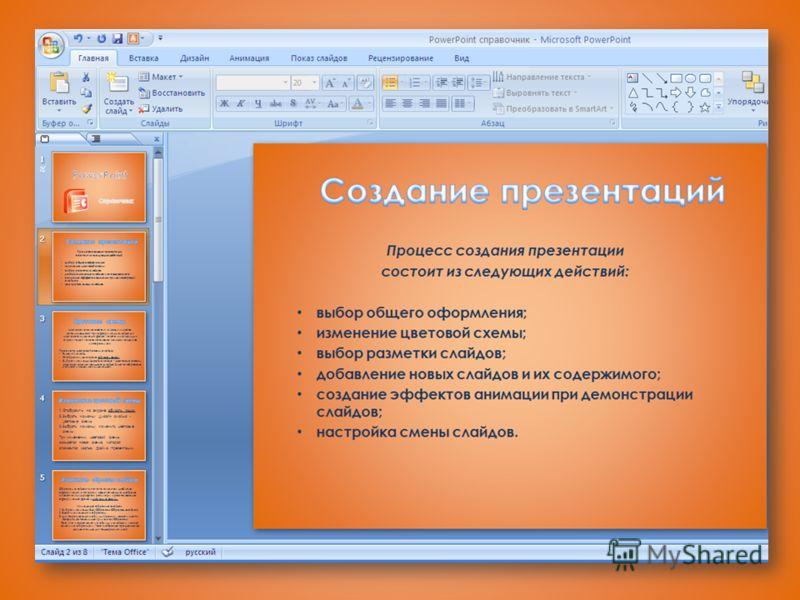 Цветовые схемы презентаций