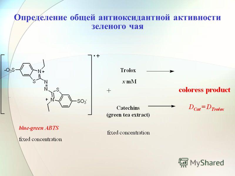 Определение общей антиоксидантной активности зеленого чая