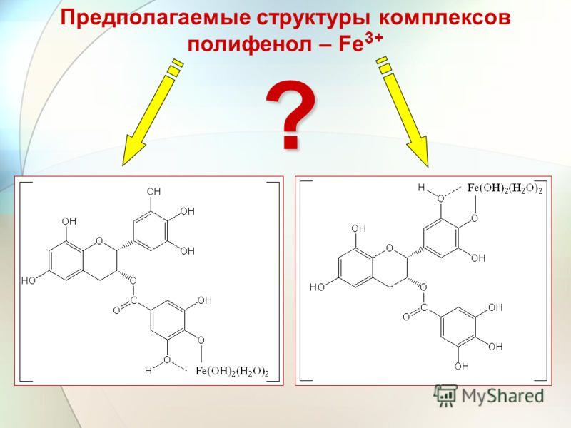 Предполагаемые структуры комплексов полифенол – Fe 3+?