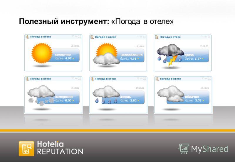 Полезный инструмент: «Погода в отеле»