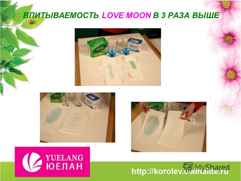ВПИТЫВАЕМОСТЬ LOVE MOON В 3 РАЗА ВЫШЕ