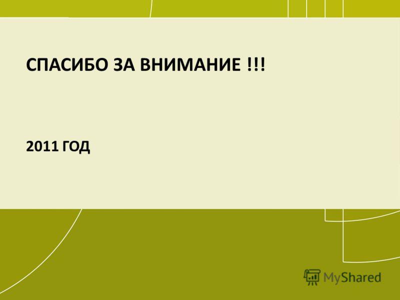 107 СПАСИБО ЗА ВНИМАНИЕ !!! 2011 ГОД