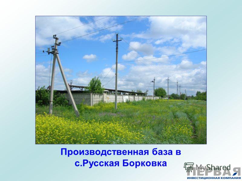 Производственная база в с.Русская Борковка
