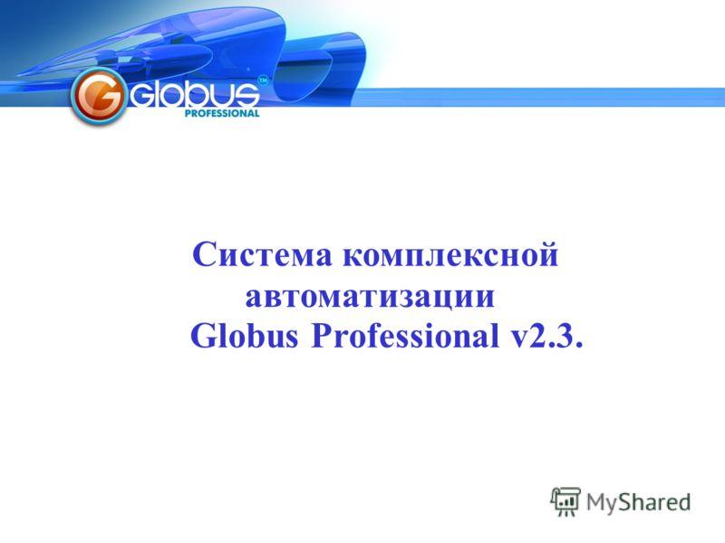 Система комплексной автоматизации Globus Professional v2.3.