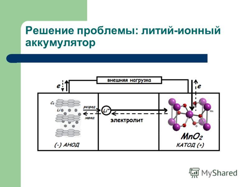 Решение проблемы: литий-ионный аккумулятор
