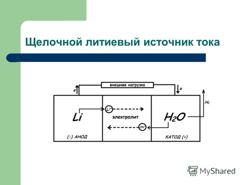 Щелочной литиевый источник тока