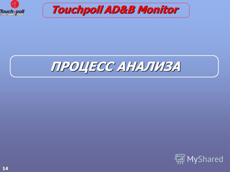 14 ПРОЦЕСС АНАЛИЗА Touchpoll AD&B Monitor