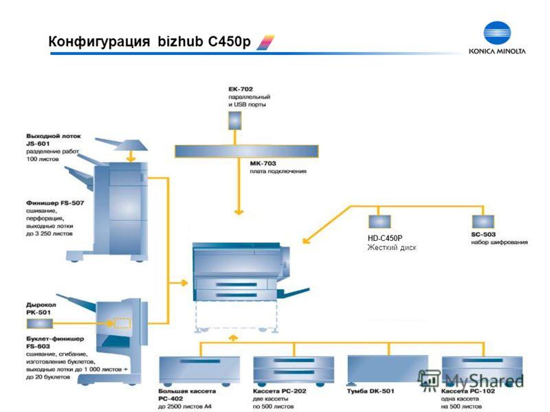 Конфигурация bizhub C450p HD-C450P Жесткий диск