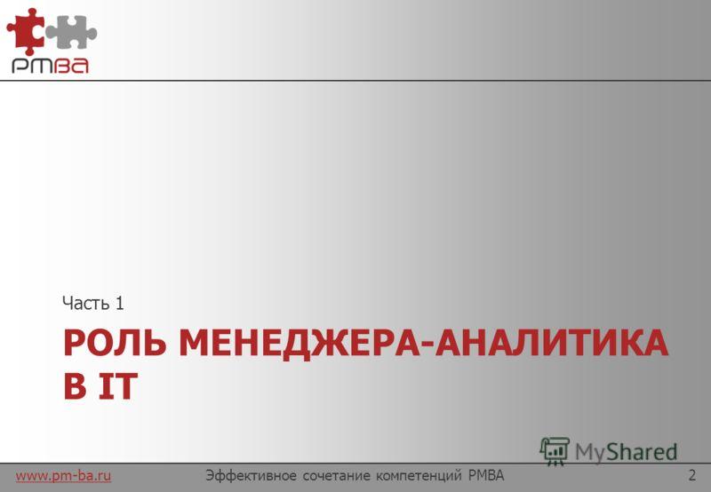 www.pm-ba.ru Давайте знакомиться Докладчик: Мария Бондаренко Управляющий партнер компании GP Solutions (www.gp-sol.de) разработка программного обеспечения для туристических компанийwww.gp-sol.de Соавтор проекта www.pm-ba.ru лучшие методики и материал