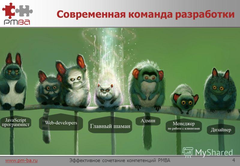 www.pm-ba.ru У истоков… Эффективное сочетание компетенций PMBA3