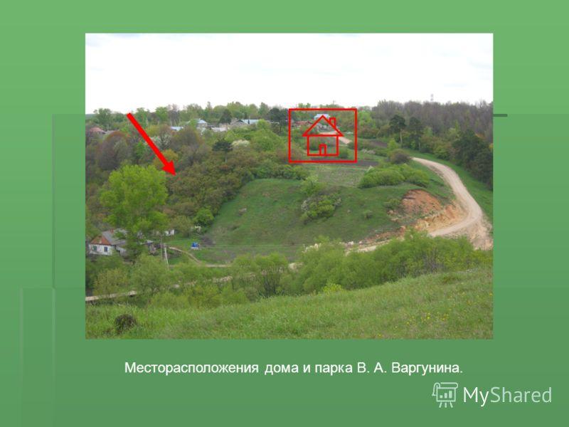 Месторасположения дома и парка В. А. Варгунина.