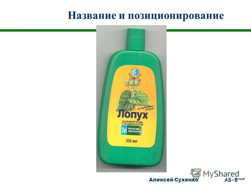 Алексей Сухенко AS-B rand Название и позиционирование