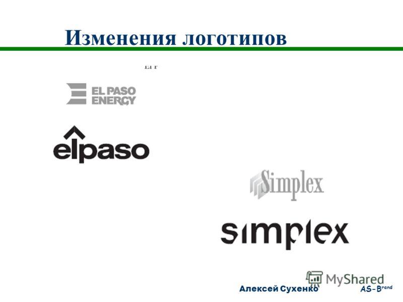 Алексей Сухенко AS-B rand Изменения логотипов