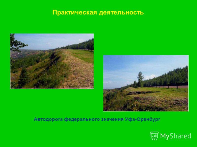 Практическая деятельность Автодорога федерального значения Уфа-Оренбург
