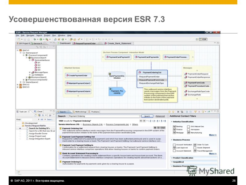 ©SAP AG, 2011 г. Все права защищены.26 Усовершенствованная версия ESR 7.3