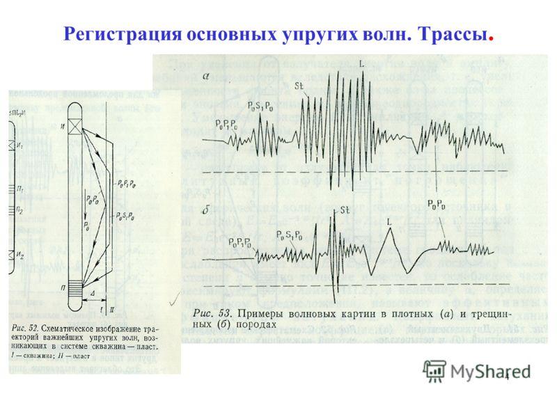 Регистрация основных упругих волн. Трассы. 4