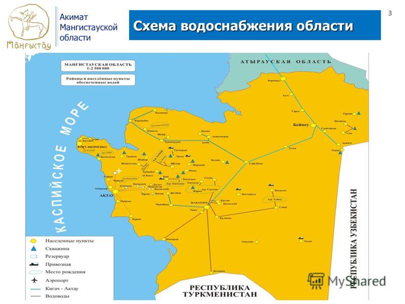 Схема водоснабжения области 3