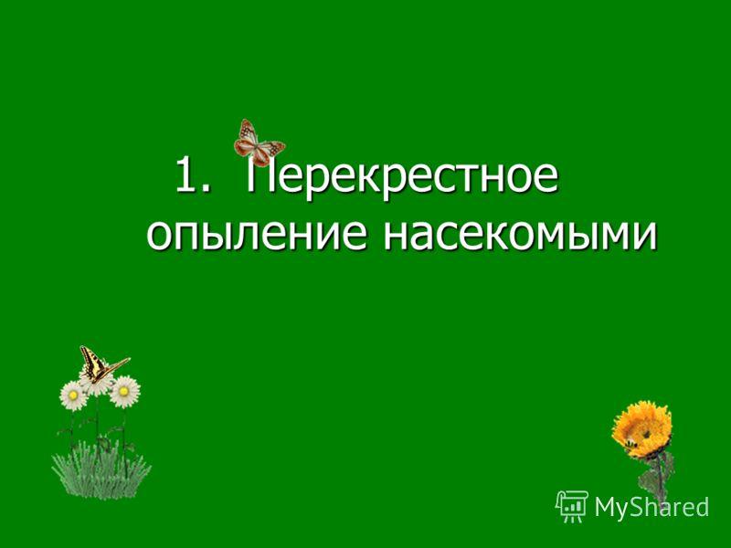 1.Перекрестное опыление насекомыми