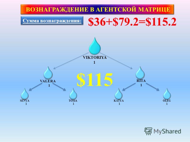 ВОЗНАГРАЖДЕНИЕ В АГЕНТСКОЙ МАТРИЦЕ www.planetdreams.ru Базовое вознаграждение за закрытие первой Тройки - $36 Второе вознаграждения за закрытие второй Тройки - $79.2 Общее вознаграждение за закрытие СТАРТОВОЙ МАТРИЦЫ составит $36+$79.2=$115.2 Плюс 5%
